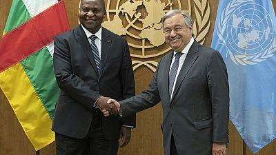 Compte rendu de la réunion du Secrétaire-général avec S.E. Mr. Faustin Archange Touadéra, Président de la République centrafricaine