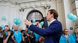 Austrian election winds up as favourite Kurz keeps coalition options open