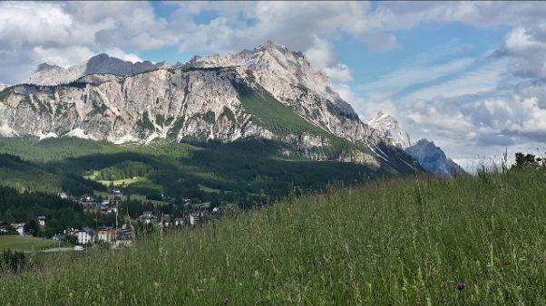 Escursionista precipita sopra Cortina