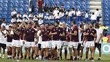 Georgian muscle brings Uruguay down to earth in Kumagaya