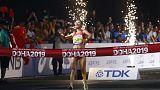 China sweeps podium in women's 20 km race walk