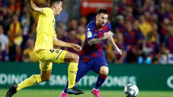 Messi si allena in parte col gruppo