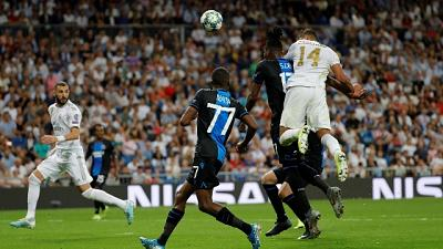 Champions: Real Madrid-Club Brugge 2-2