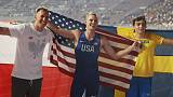Pole vaulter Kendricks takes second world gold after duel with Duplantis