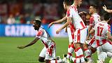 Red Star fight back to beat 10-man Olympiakos 3-1