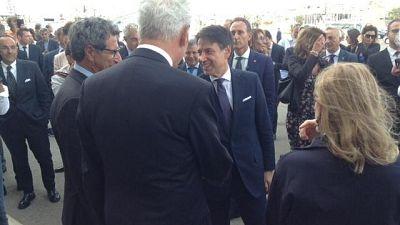Conte a Cagliari, tappa da Luna Rossa