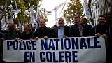 French police march in Paris for better working conditions