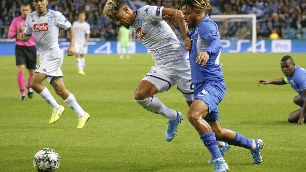 Champions: Napoli frena, 0-0 con Genk