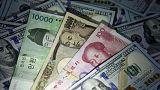 Yen near one-month highs vs dollar on risk aversion