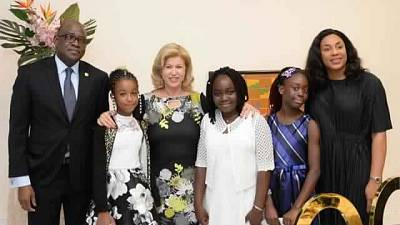 Washington, DC : Diner en l'honneur de la Première Dame de Côte d'Ivoire, Madame Dominique Ouattara