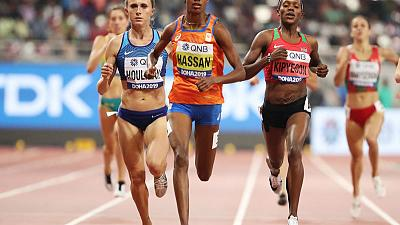Hassan on course for unique double after winning 1500m semi