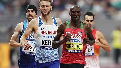 Cheruiyot through after rough 1500 metres race