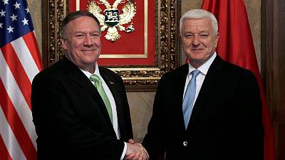 Pompeo stops in Montenegro to discuss NATO, no comment on Ukraine
