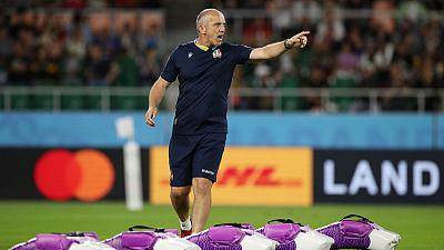 Italy coach laments red card, praises Bok power in heavy defeat