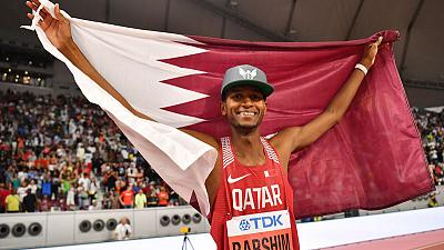 Barshim soars to high jump gold to delight home crowd