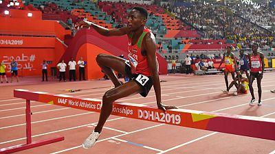 Kipruto wins photo finish to claim steeplechase gold