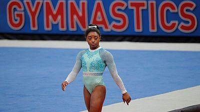 Gymnastics: Governing body defends Biles dismount grading, U.S. unhappy