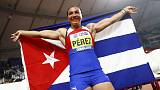 Athletics: Cuba's Perez rewarded for persistence with discus gold