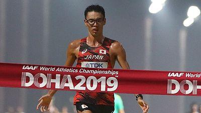 Japan's Yamanishi takes gold in 20km race walk