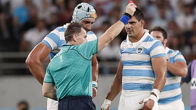 Argentina's Lavanini sent off against England