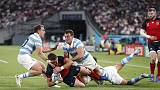 Rugby-England march into quarter-finals as red card cripples Pumas