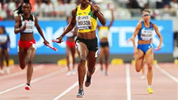 Atletica, 4x100 donne 7/a in finale