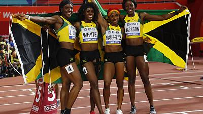 Jamaica beat Britain for women's relay gold