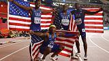 Coleman, Lyles help U.S. end relay gold medal drought