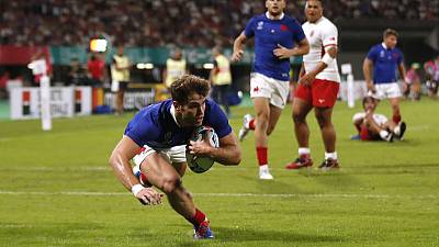 France weather Tongan storm to reach World Cup quarter-finals