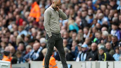 Guardiola says nerves affected Man City in shock Wolves loss