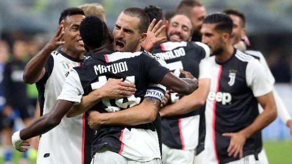 Serie A: 2-1 all'Inter, la Juve in vetta