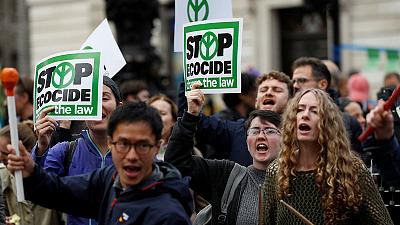 'Sorry, this is an emergency' - Climate protesters block streets around the world