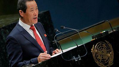 North Korea warns U.S., Europeans against raising its missile tests at U.N.