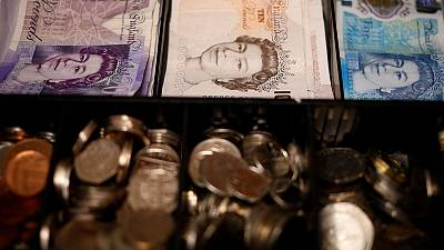 Sterling falls to three-week low vs euro as 'no-deal' Brexit worries flare
