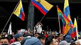 Ecuador imposes curfew after protests push government out of capital