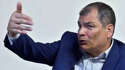 Ex-Ecuador president Correa denies planning coup attempt from exile