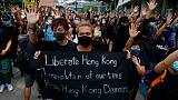 Hundreds of black-clad activists chant 'Liberate Hong Kong' outside High Court