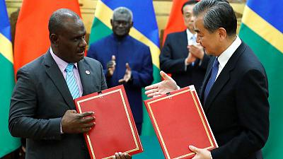 China, Solomon Islands sign deals under new diplomatic ties
