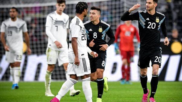 Amichevole Germania-Argentina 2-2