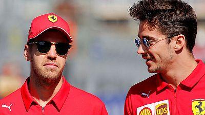 Vettel, Leclerc play down talk of Ferrari rift