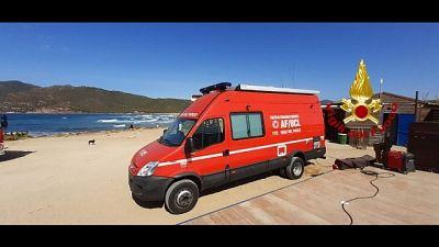 Surfista disperso nel Nord Sardegna