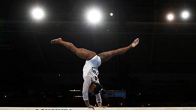 Biles by miles: U.S. gymnast claims record fifth all-around world title