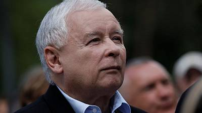 Poland's Kaczynski steps out of shadows to mobilise rural vote