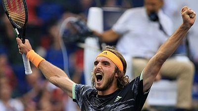 Tsitsipas downs Djokovic in Shanghai, qualifies for ATP Finals