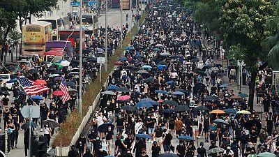 Petrol bombs thrown in Hong Kong metro, no one injured - government