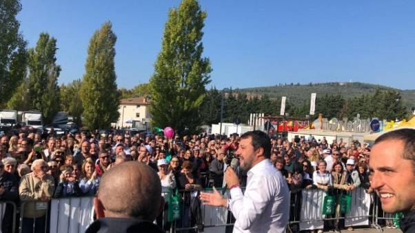 Salvini, è voto umbri per gli umbri