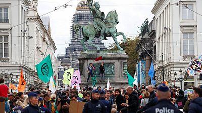 Belgian police arrest up to 300 Extinction Rebellion protesters