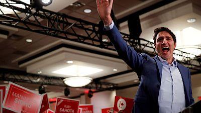 Canada's Trudeau dons bulletproof vest for campaign event, CBC cites threat