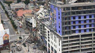 One killed as hotel under construction collapses in New Orleans