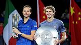 Medvedev mauls Zverev to lift Shanghai Masters title
